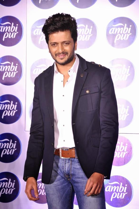 Riteish Deshmukh Fresh Look At Ambipur Launch Event