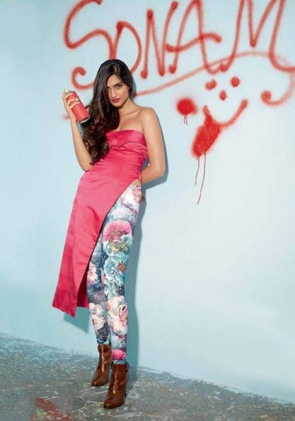 Sonam Kapoor Fashionable Look Photo Shoot For Cosmopolitan November 2013 Issue