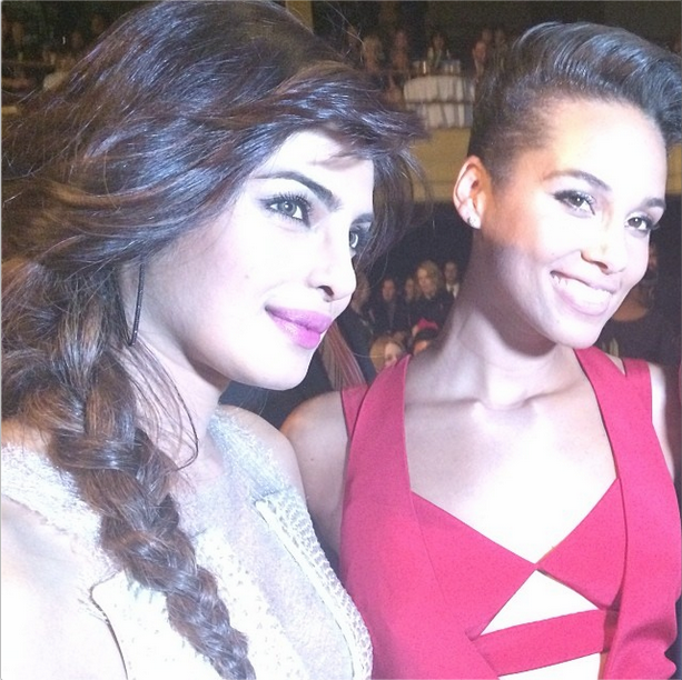 Priyanka Pose With Alicia Keys At Keep A Child Alive's 10th Annual Black Ball In NY