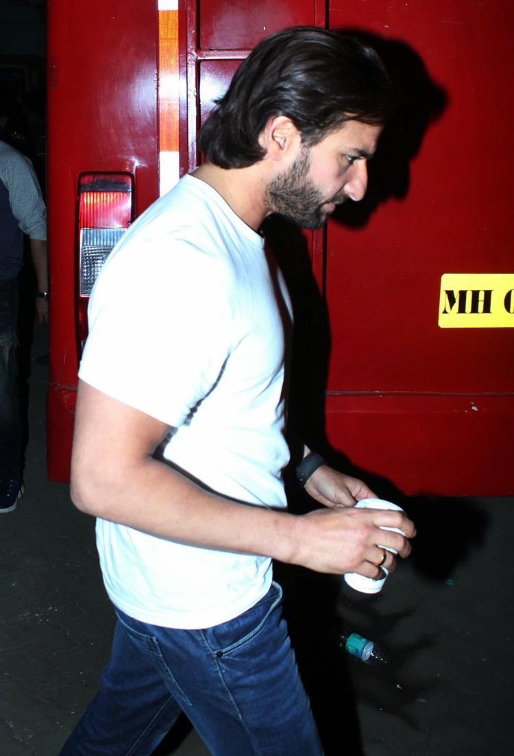 Saif Ali Khan Promoting His Upcoming Flick Bullet Raja At Mehboob Studio
