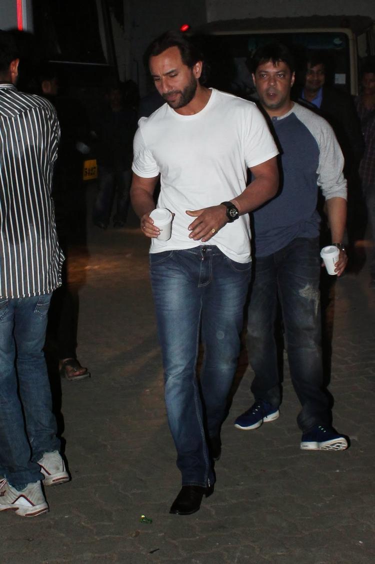Saif Ali Khan At The Promotion Of Bullet Raja In Mehboob Studio, Mumbai
