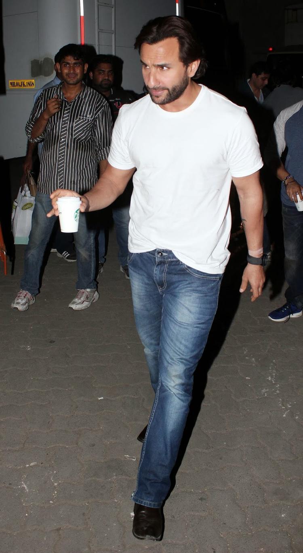 Saif Ali Khan Snapped At Mehboob Studio During The Promotion Of Bullet Raja