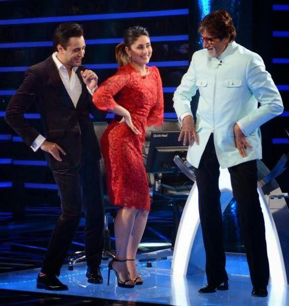 Amitabh Bachchan Shakes A Leg With Kareena Kapoor At KBC