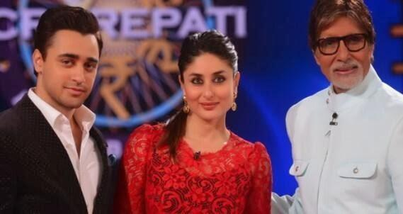 Kareena,Amitabh And Imran Nice Pose On The Set KBC