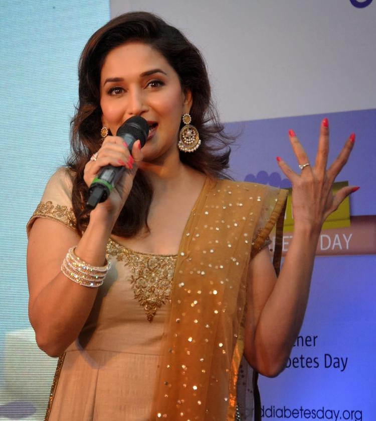 Madhuri Speaking About Dance At Sanofi's Diabetes Awareness Event