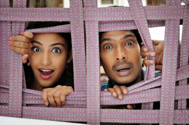 Dhanraj And Karina Very Cute Pose From AK Rao PK Rao Tollywood Movie