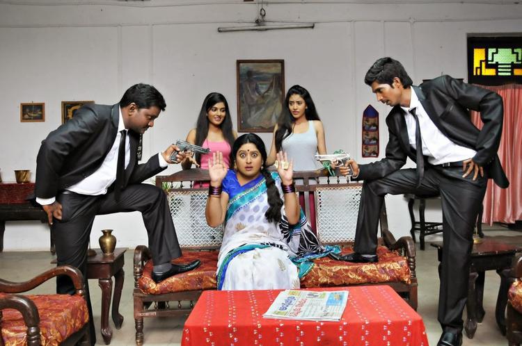 A Fun Still From Telugu Movie AK Rao PK Rao
