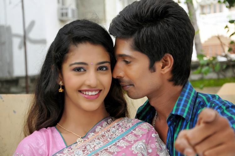 Karina And Dhanraj Romance Still In AK Rao PK Rao Movie