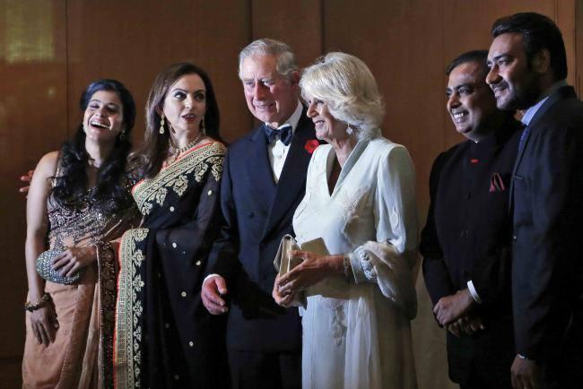 Bollywood Celebs Kajol And Ajay Devgan Pose With Royal Couple Prince Charles And Camilla