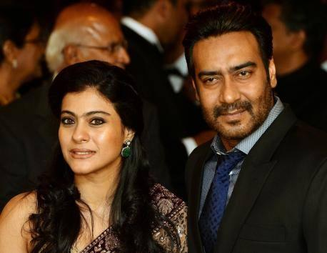 Kajol And Ajay Nice Pose During The Reception For The British Asian Trust