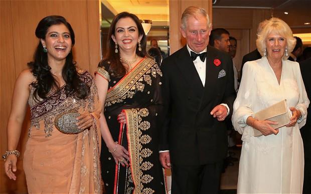 Kajol,Nita Ambani,Prince Charles,Prince Of Wales And Camilla,Duchess Of Cornwall At The British Asian Trust Reception