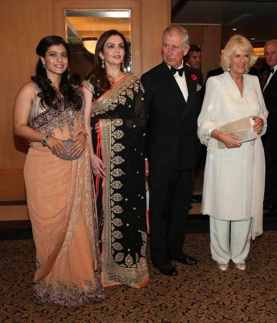 Kajol,Nita,Prince Charles And Camilla Pose During Launch Of British Asian Trust Advisory Council In Mumbai
