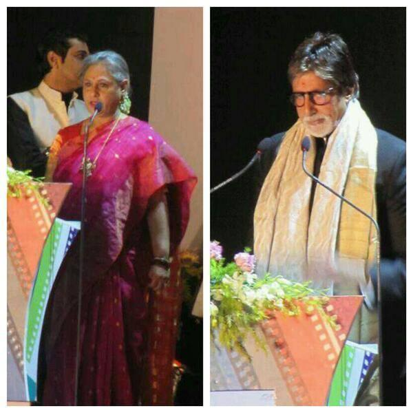 Jaya And Amitabh Speaks During The Inauguration Of Kolkata International Film Festival