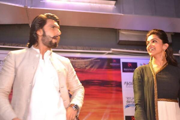 Ranveer And Deepika Promote Their Film Ram-Leela At Delhi