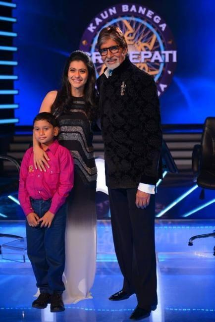 Kajol On The Sets Of KBC For Children's Health