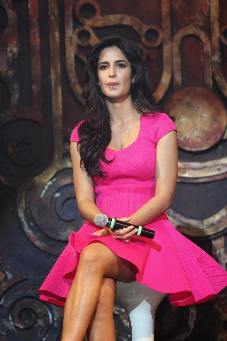 Katrina Kaif Close Up Pic At  Dhoom Machale Song Launch Event In Mumbai