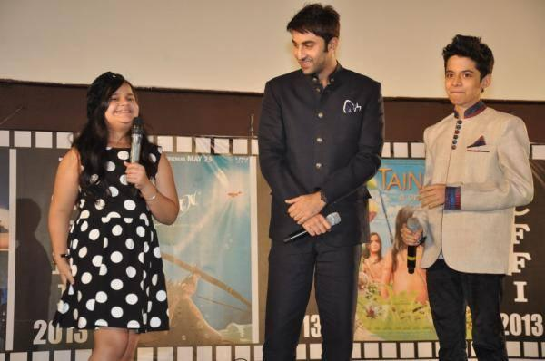 Saloni,Ranbir And Darsheel At The Inauguration Of The 18th ICFFI