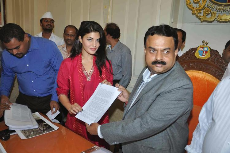 Jacqueline And Sunil At The Ethical Treatment For Animals (PETA) Campaign