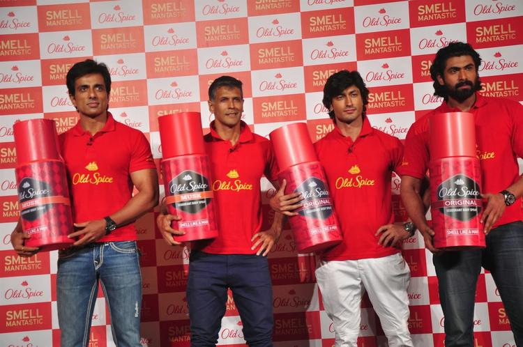 Sonu,Milind,Vidyut And Rana Launched Old Spice's Deodorant On International Men's Day
