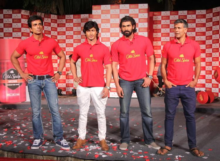 Sonu,Vidyut,Rana And Milind Unveil Old Spice's Smell Mantastic Deodorant