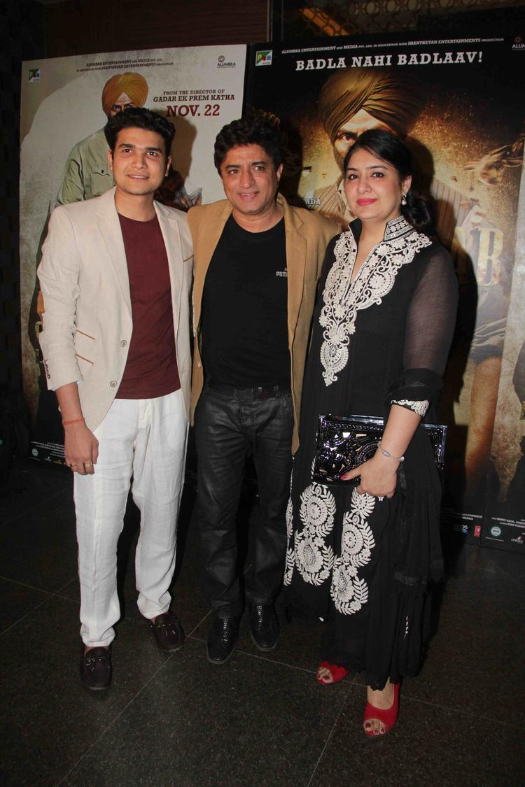 Anand Raj Anand Posed For Camera At Singh Saab The Great Movie Special Screening Event