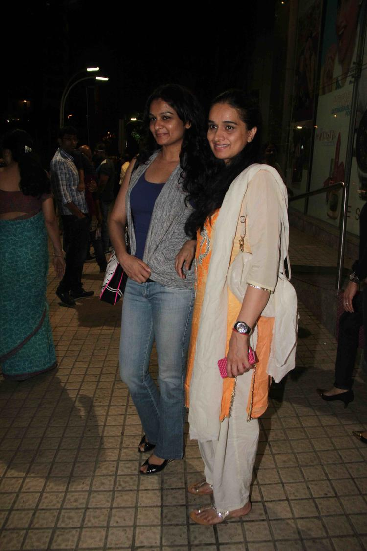 Guests Are Posed During The Special Screening Of Singh Saab The Great Movie