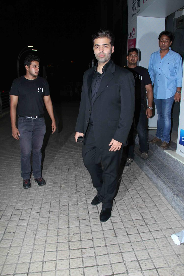 Karan In Mumbai Theatre At His Movie Gori Tere Pyaar Mein Movie Special Screening