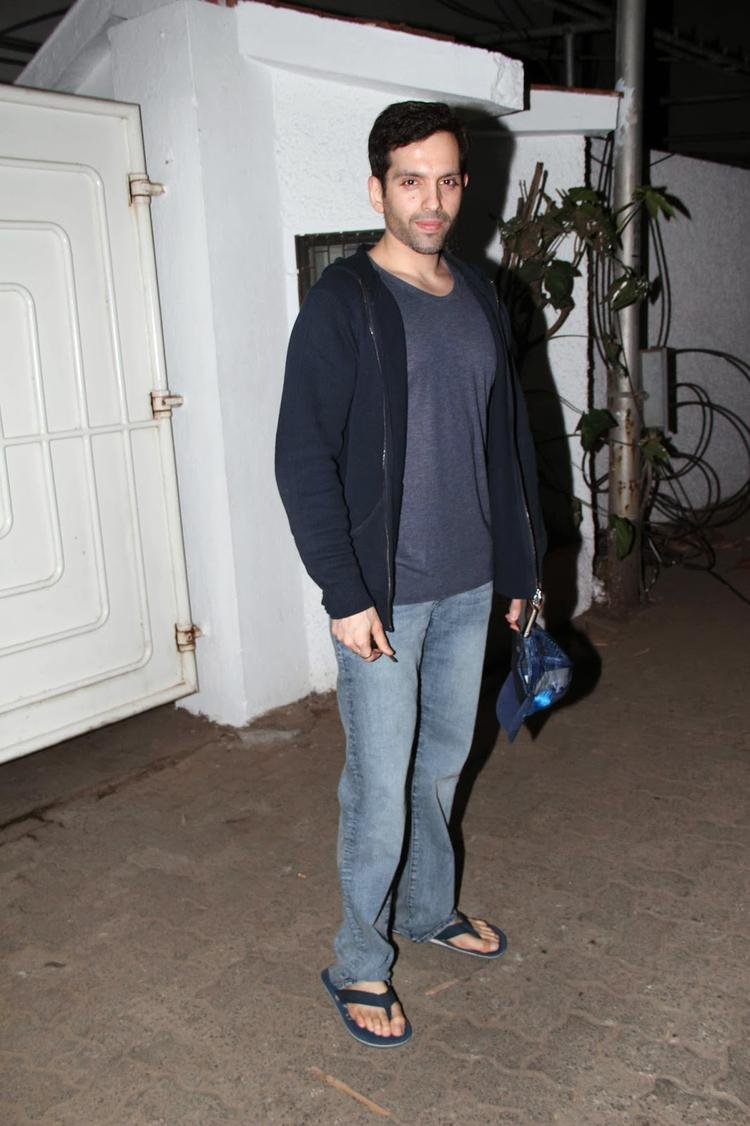 Luv Sinha Snapped At The Special Screening Of Bullett Raja Movie