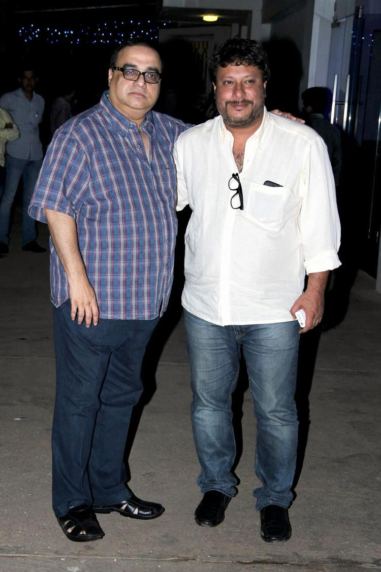 Tigmanshu Dhulia And Rajkumar Santoshi Clicked At The Special Screening Of Bullett Raja Movie