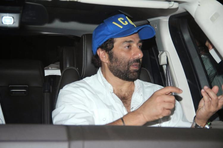 Sunny Deol At PVR Theatre Mumbai During The Promotion Of Singh Saab The Great