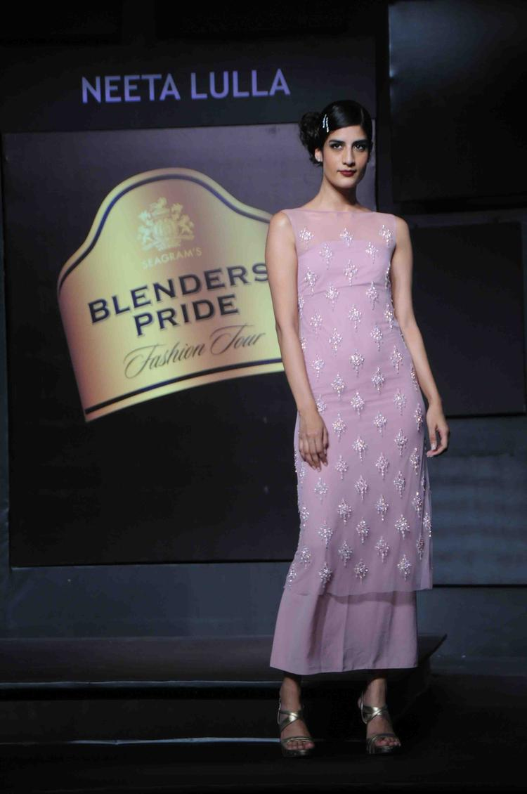 This Model Walks For Neete Lulla At Blenders Pride Fashion Tour Mumbai Day 2  Event