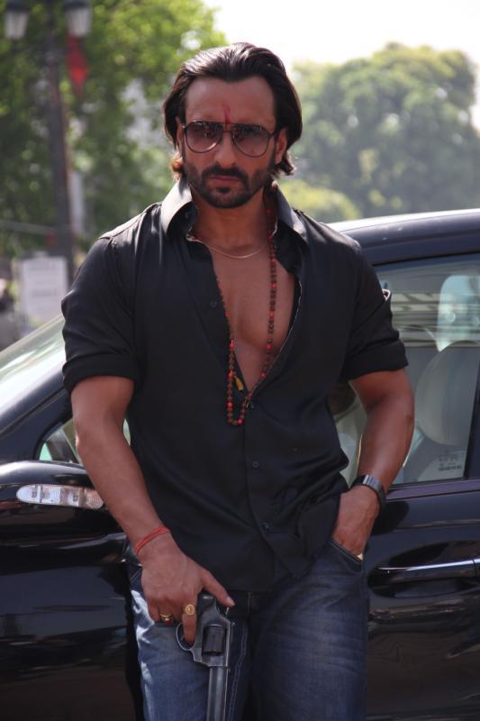 Saif Ali Khan Action Still In Bullet Raja Movie