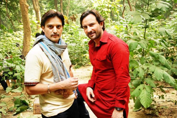 Saif And Jimmy A Pic On The Set Of Bullet Raja Movie
