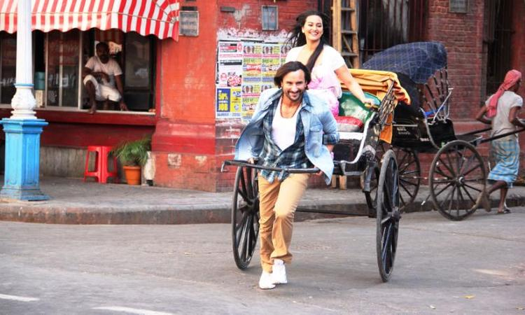Saif And Sonakshi Momerable Still From The Movie Bullet Raja