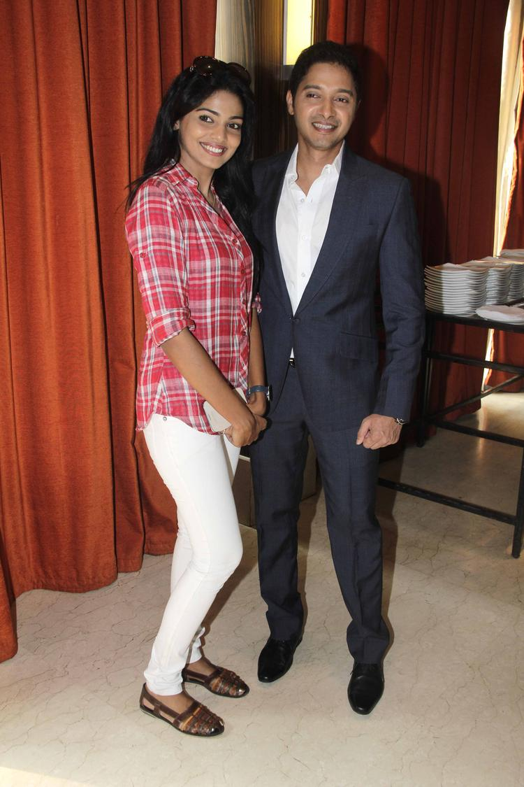 Pooja And Shreyas Clicked During The Launch Of Shreyas Talpade's Second Home Production
