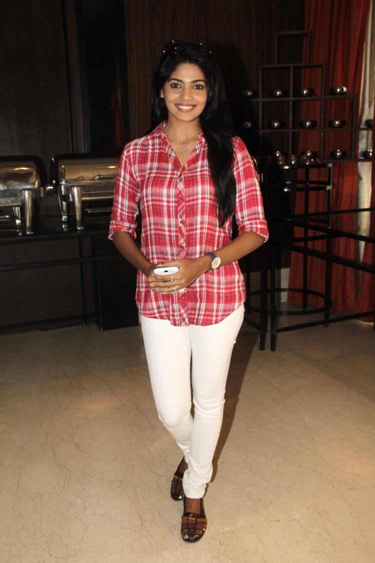 Pooja Sawant Stylish Look During The Launch Of Shreyas Talpade's Second Home Production
