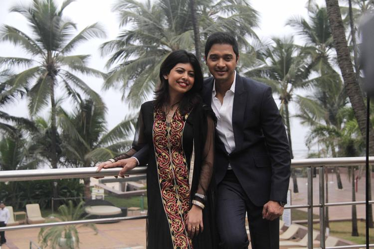 Shreyas And Wife Deepti Cool Pic At His Second Home Production Launch Event