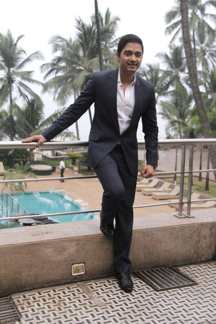 Shreyas Talpade Strikes A Pose During His Second Home Production Launch