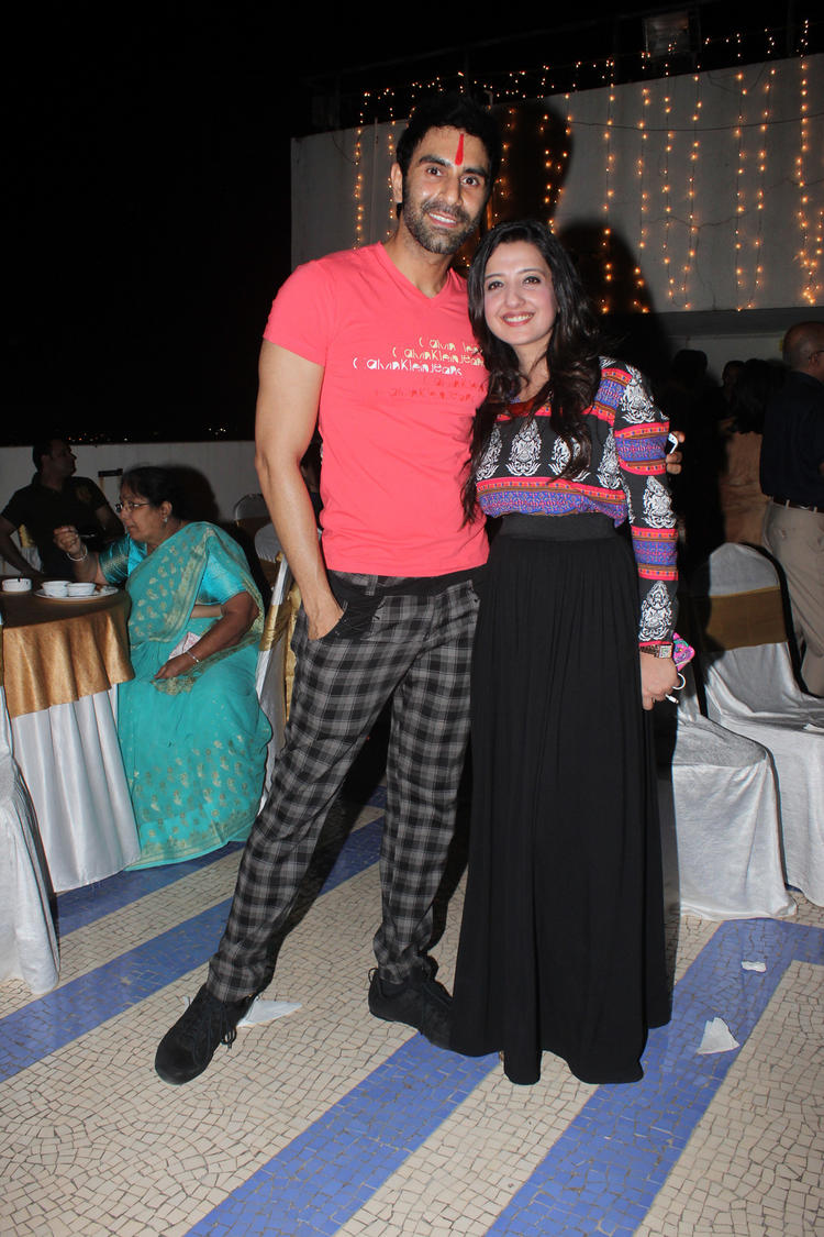 Amy Billimoria Pose With A Friend At Her Fathers 70th Birthday Bash