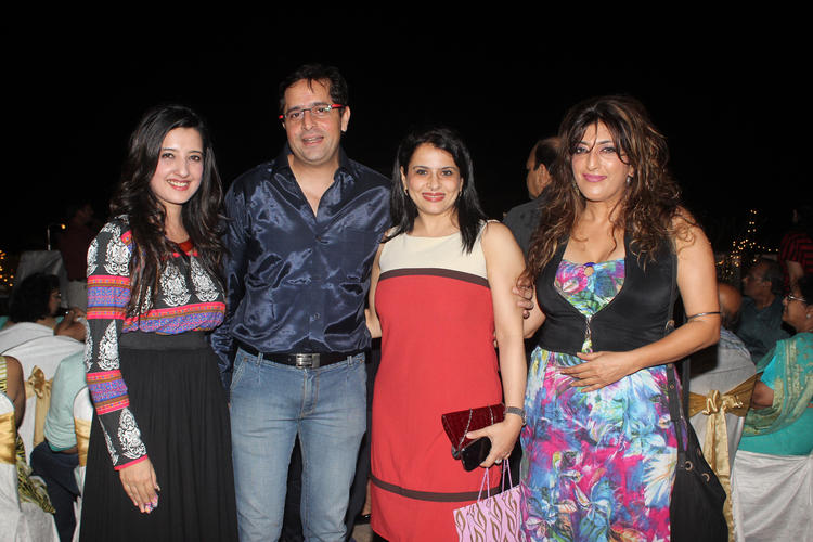 Designer Amy Billimoria Pose With Her Friends At Fathers 70th Birthday Bash