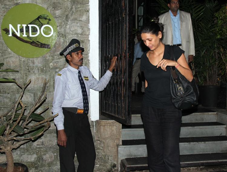 Mehr Jesia Rampal Black Hot Still During Nido Resto In Bandra