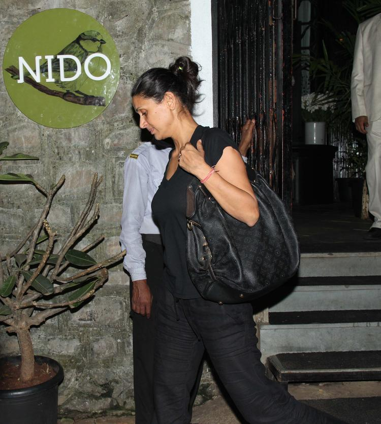 Mehr Jesia Rampal With Hubby Snapped At Nido Resto In Bandra