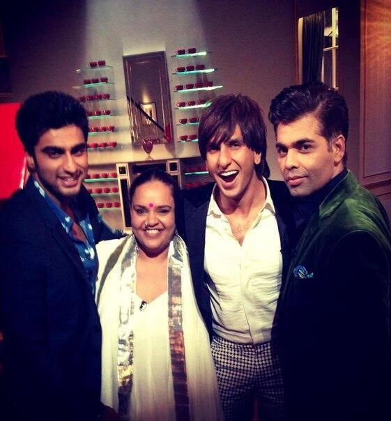 Arjun,Ranveer And Karan Cool Posed On The Sets Of Koffee With Karan Season 4