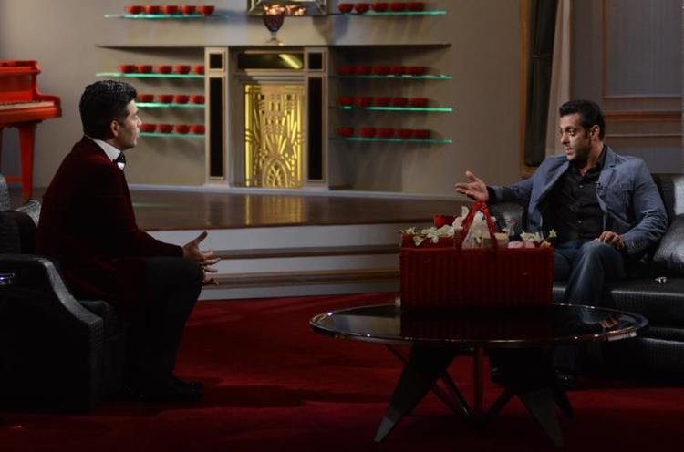 Karan And Salman Cool Chatting On The Sets Of Koffee With Karan Season 4