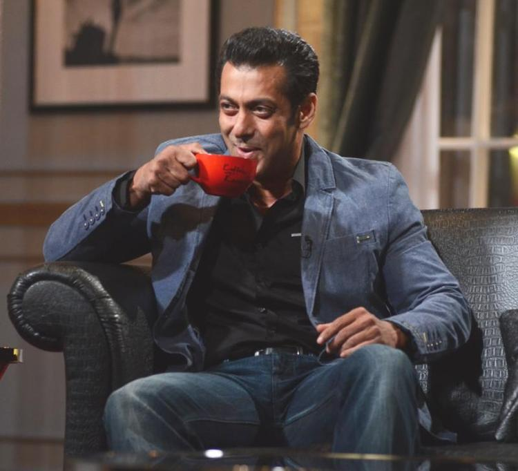 Salman Khan Take Coffee On The Sets Of Koffee With Karan Season 4
