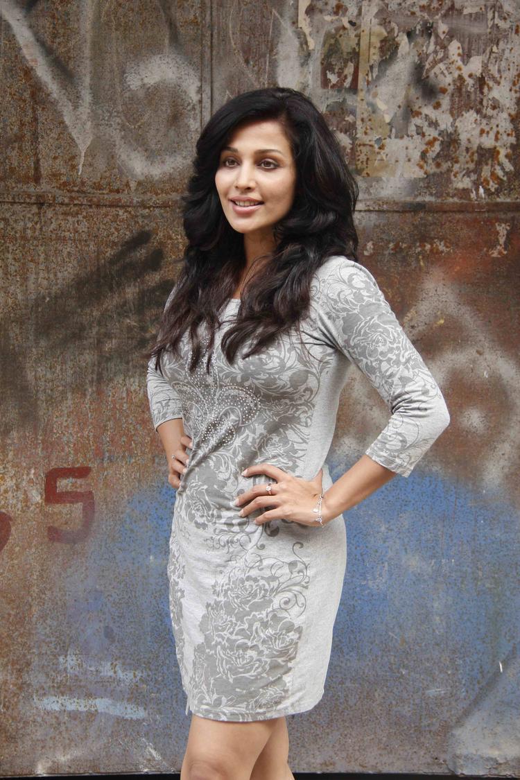 Flora Saini Spotted At Lakshmi Movie Music Video Shoot