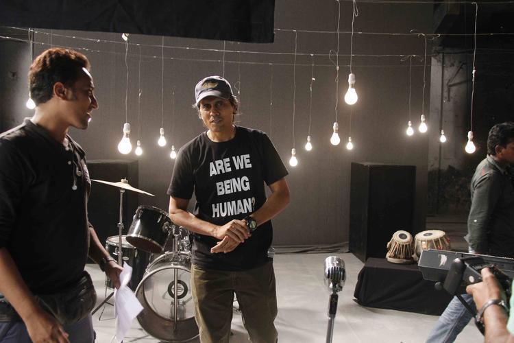 Indian Filmmaker Nagesh Kukunoor At Lakshmi Movie Music Video Shoot
