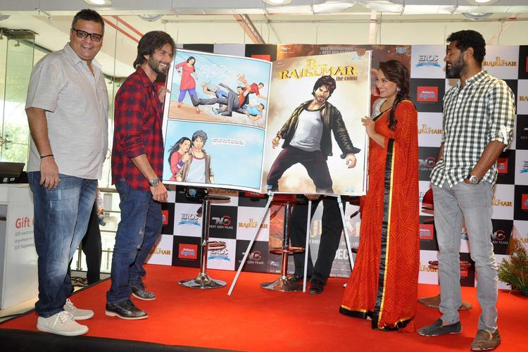 R Rajkumar Team Launch Comic Poster Of Their Movie In Mumbai