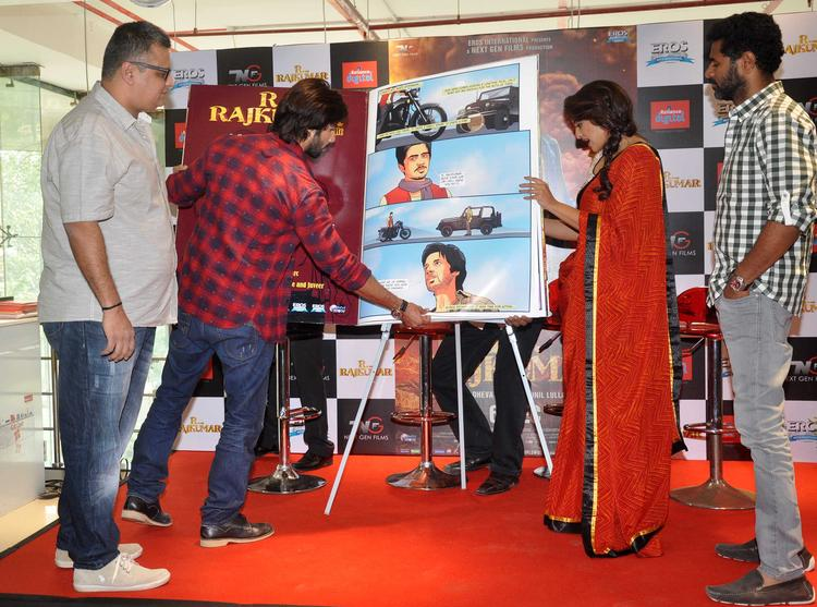 Shahid,Sonakshi And Prabhu Deva Launch R Rajkumar Comic Poster In Mumbai
