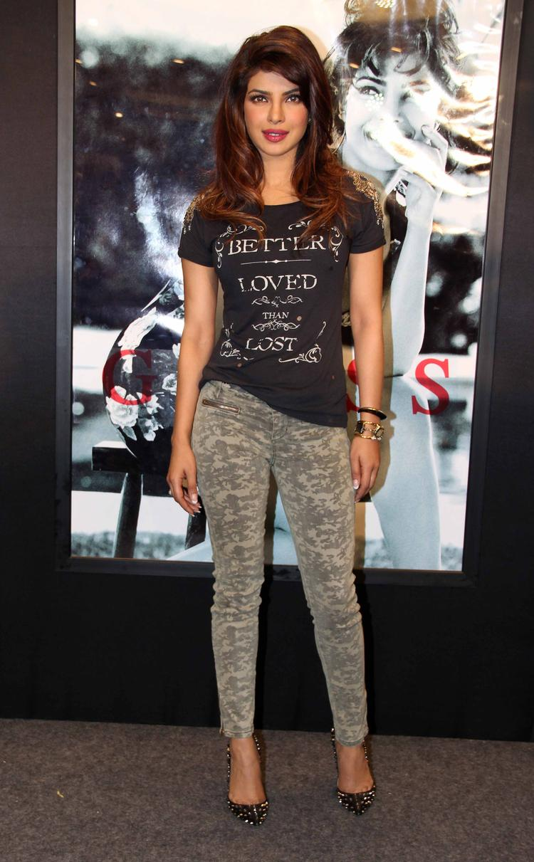 Gorgeous Priyanka Chopra At Campaign New Collection Of Guess